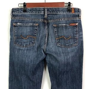 7 For All Mankind Boot Cut Women's Dark Wash Jeans